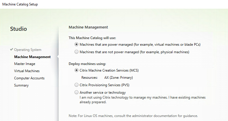 My first time: Citrix Machine Creation Services (MCS)